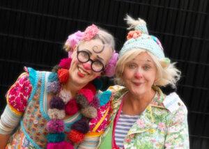 Eva och Anne-Marie som Pajette och Gajans. Foto: Christin Filipson